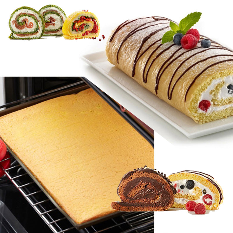 WALFOS food grade Silicone Baking Mat DIY Multifunction Cake Pad  Non-Stick Oven liner Swiss Roll