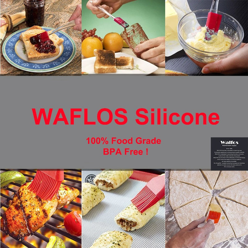 WALFOS Pastry Brushes-BBQ cake oil brush for barbecue grill -heat resistant Silicone Basting Brushes