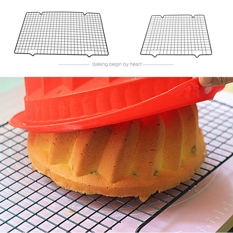 WALFOS Stainless Steel Nonstick Cooling Rack Cooling Grid Baking Tray