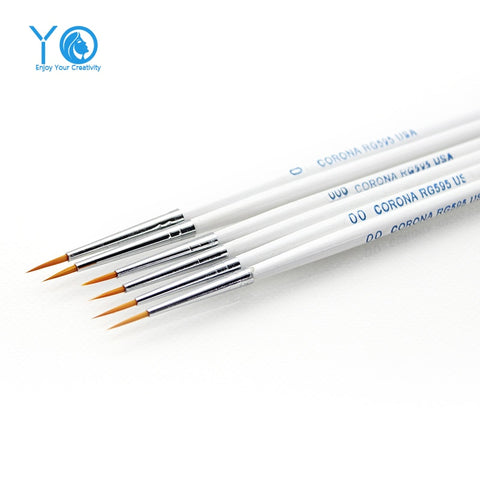 YO 3pcs/lot #0#00#000 Line Drawing Pen Water Nylon Fiber Color Pen Pastry Brushes Baking &