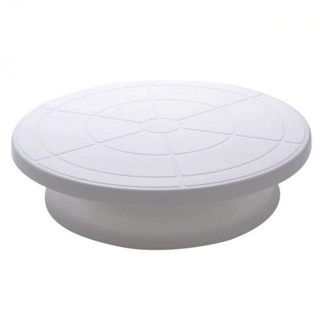 Yolife 10 Inch Plastic Cake Rotary Table DIY Pastry Baking Tool Cake Stand Cake Turntable Rotating