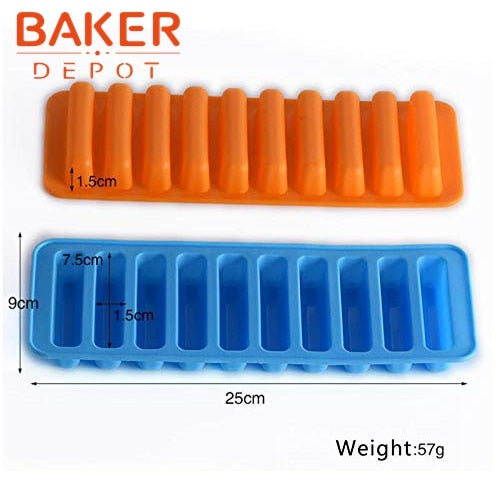 Silicone bakeware mold Chocolate Molds 10 holes Long finger Cake Molds Thumb Cookies Moulds