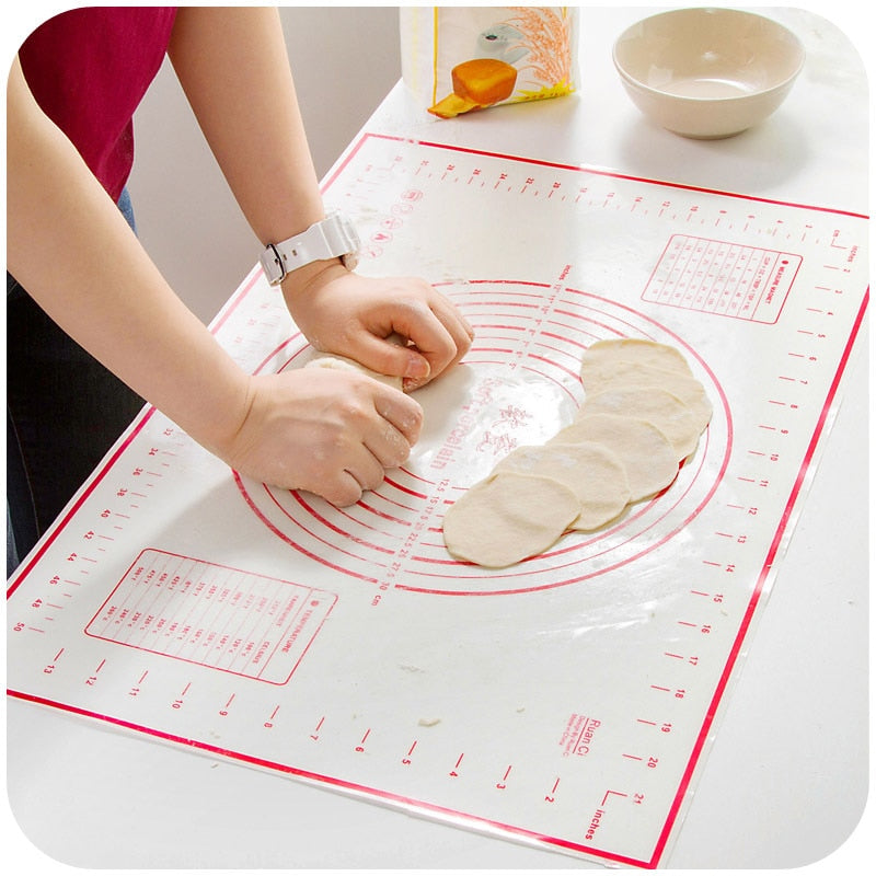Platinum silicone mat dough chopping board with scale large non-slip silicone mat kitchen