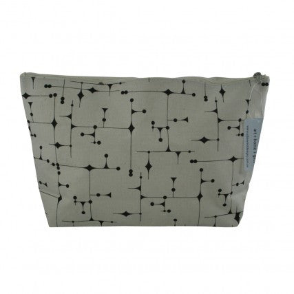 Cosmetic Bag Black Pattern | Urban Nest Design