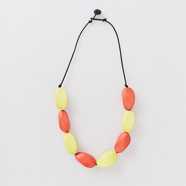 Twist Necklace - Orange | Have you met Miss Jones