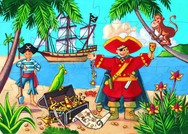 Pirate/Treasure Silhouette - 36pce | Djeco