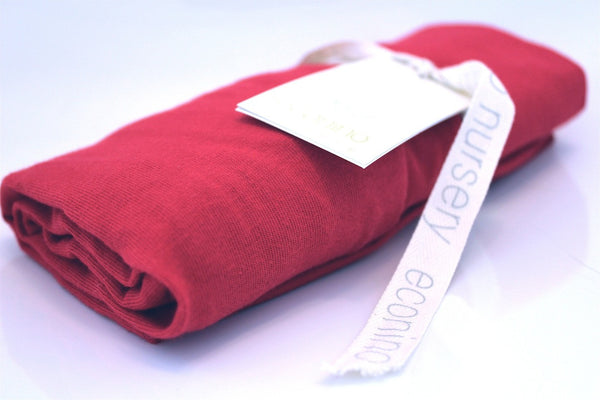 Organic Change Mat & Bassinet Cover - Red | econino