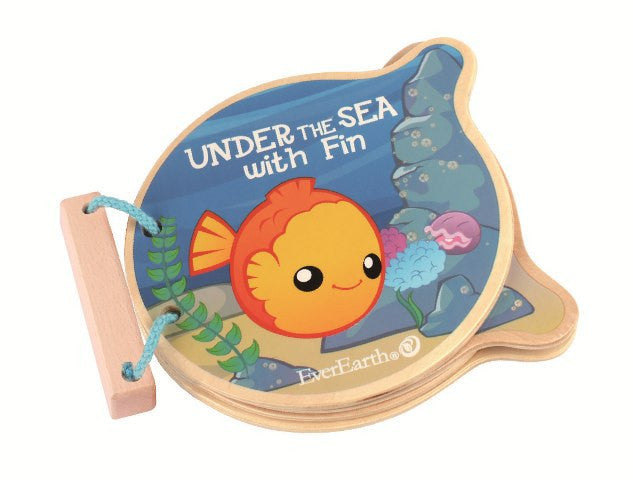 Wooden Book - Under The Sea With Fin | EverEarth