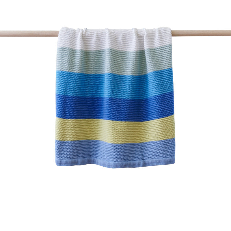 Funky Stripe Blue Baby Blanket | Linen 'n' Things