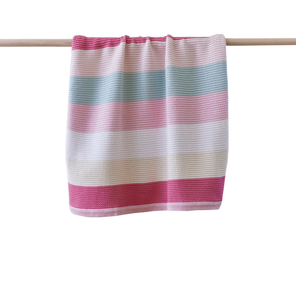 Funky Stripe Pink Baby Blanket | Linen 'n' Things