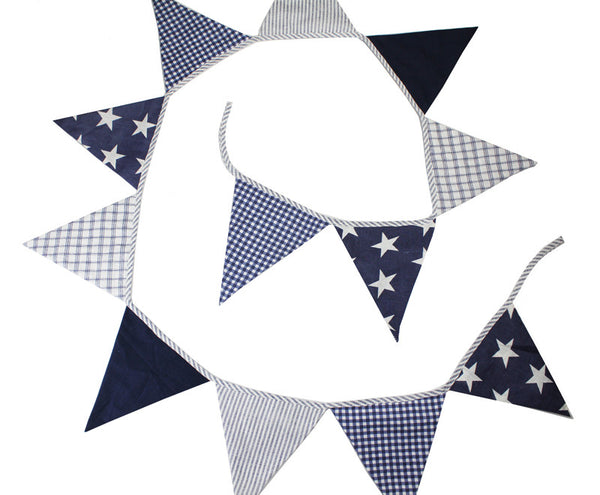 Lachlan Navy Bunting  | Linen 'n' Things