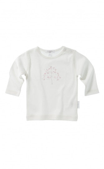 Long Sleeve Top - Powder Pink Tree Print | Purebaby