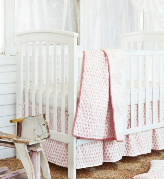 Cot Set - Elephant Pink | Haveli