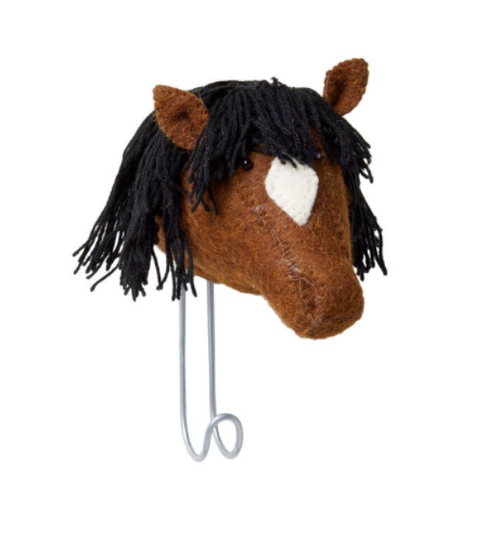 Felt Brown Horse Hook | Fiona Walker England