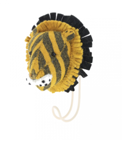 Felt Printed Tiger Hook | Fiona Walker England