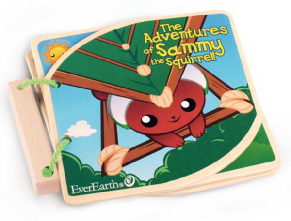 Wooden Book - Sammy the Squirrel | EverEarth