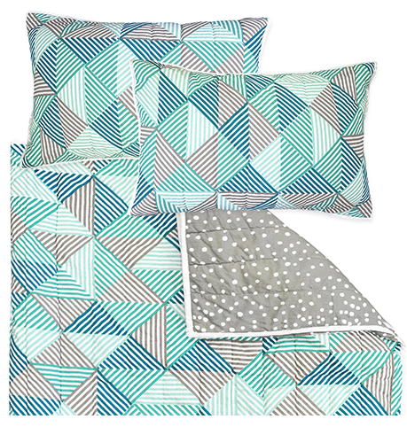 Billie Blue Double Quilt Set | Madras Link