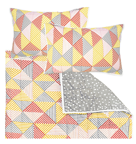 Billie Coral Double Quilt Set | Madras Link