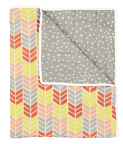 Kelly Coral Cot Quilt | Madras Link