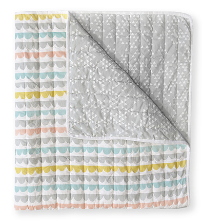 Harper Peach & Yellow Cot Quilt | Madras Link
