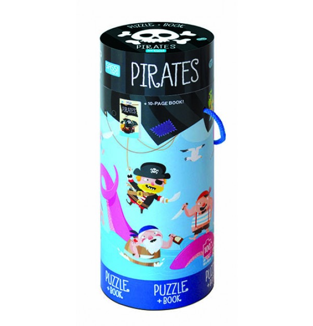 Pirate Puzzle & Book | Sassi Junior