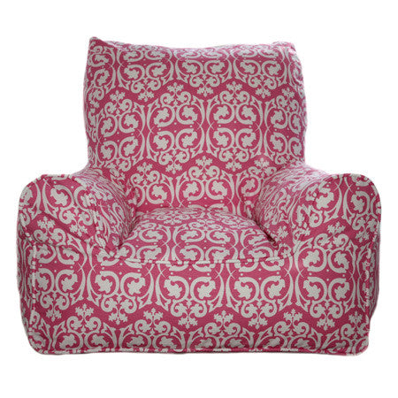 Bean Chairs - Damask Pink | Lelbys