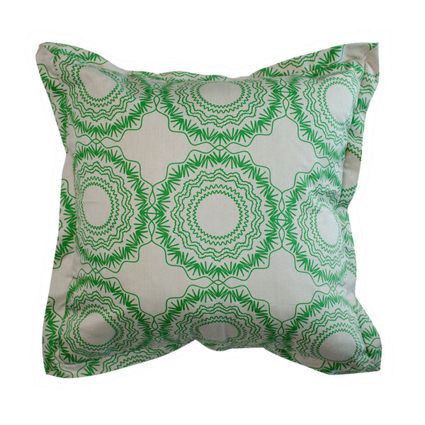 Cushion Cover - Origami Moss on Grey | One Kind