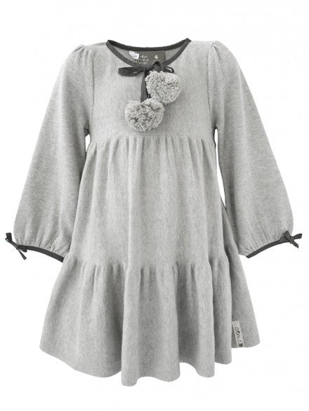 Gauge Knit Dress - Grey | e3-M