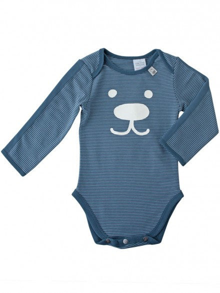 Bodysuit Boy Deep Sea/Steel Stripe | e3-M