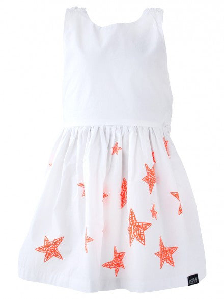 Crossover Dress - White | e3-M