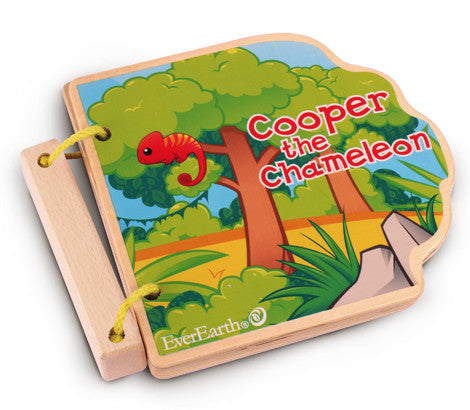 Wooden Book - Cooper the Chameleon | EverEarth