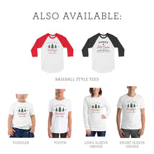 Load image into Gallery viewer, Christmas Mickey's Tree Farm 3/4 Sleeve Raglan Shirt ADULT