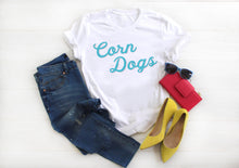Load image into Gallery viewer, Corn Dogs Short-Sleeve Unisex T-Shirt | Disney Snacks Shirt - Next Stop Main Street