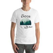 Load image into Gallery viewer, Visit Endor The Forest Moon WITH STARS Star Wars Land Galaxy's Edge Unisex T-Shirt - Next Stop Main Street