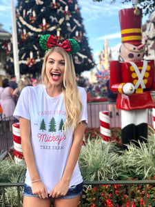 Christmas Mickey's Tree Farm Short-Sleeve Unisex T-Shirt ADULT - Next Stop Main Street