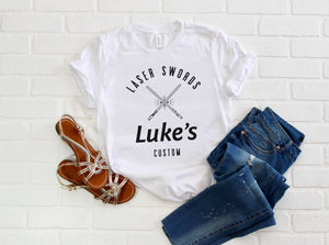 Luke's Laser Swords Short-Sleeve Unisex T-Shirt (more colors available) - Next Stop Main Street