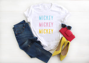 Colorful Mickey Short-Sleeve Unisex T-Shirt - Next Stop Main Street