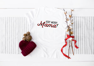 Christmas Very Merry Mama Light Short-Sleeve Unisex T-Shirt (more colors available)