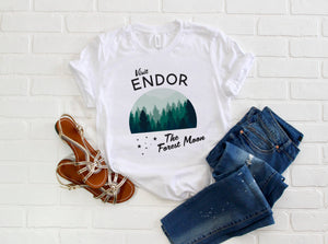 Visit Endor The Forest Moon WITH STARS Star Wars Land Galaxy's Edge Unisex T-Shirt - Next Stop Main Street