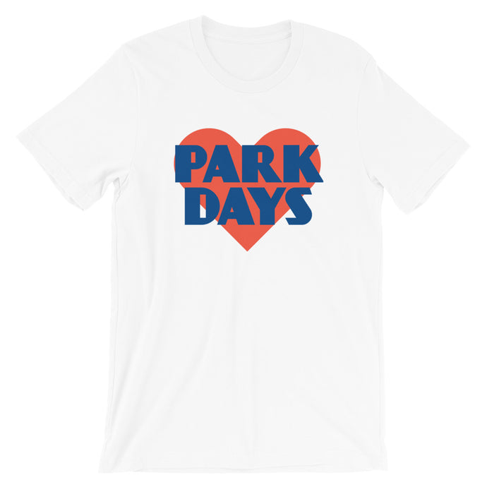 Park Days Heart Short-Sleeve Unisex T-Shirt - Next Stop Main Street