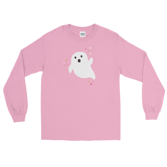Halloween Ghost Long Sleeve Shirt (more colors available)