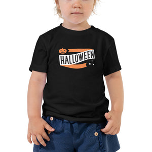 Halloween Pumpkin and Stars TODDLER Short Sleeve Tee - Next Stop Main Street
