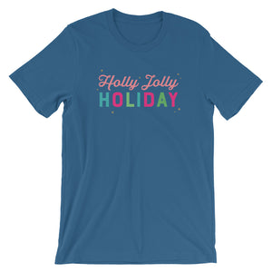 Christmas Holly Jolly Holiday Short-Sleeve Unisex T-Shirt (more colors available)