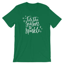 Load image into Gallery viewer, Christmas 'Tis the Season to Sparkle Short-Sleeve Unisex T-Shirt (more colors available) - Next Stop Main Street