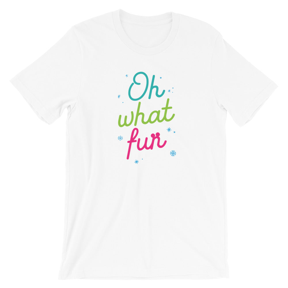 Christmas Oh What Fun Colorful Short-Sleeve Unisex T-Shirt - Next Stop Main Street