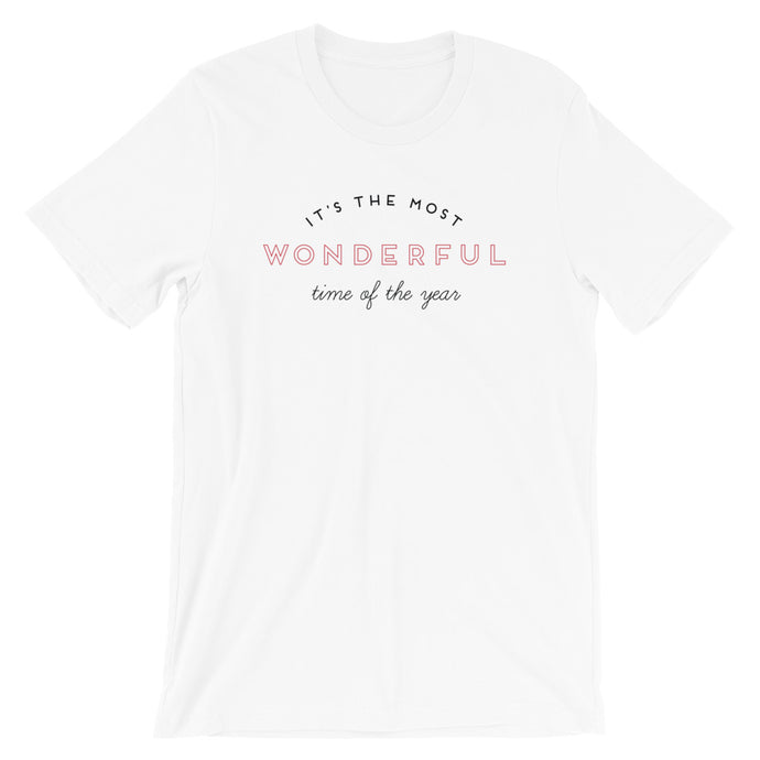 Christmas Most Wonderful Time of the Year Short-Sleeve Unisex T-Shirt
