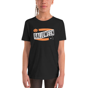 Halloween Pumpkin and Stars YOUTH Short Sleeve T-Shirt - Next Stop Main Street