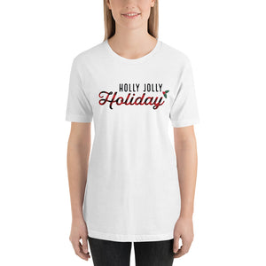 Christmas Holly Jolly Holiday Buffalo Plaid Short-Sleeve Unisex T-Shirt