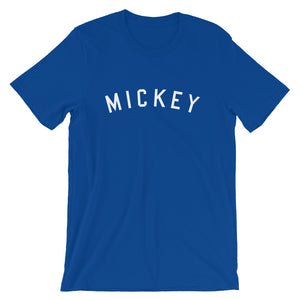 Mickey College Style Short-Sleeve Unisex T-Shirt (more colors available) - Next Stop Main Street