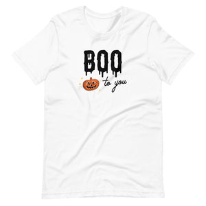 Halloween Boo to You Pumpkin Unisex T-Shirt (more colors available)